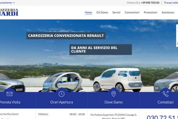 web marketing carrozzerie