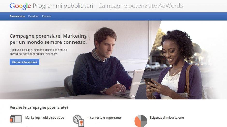 campagne potenziate google adwords