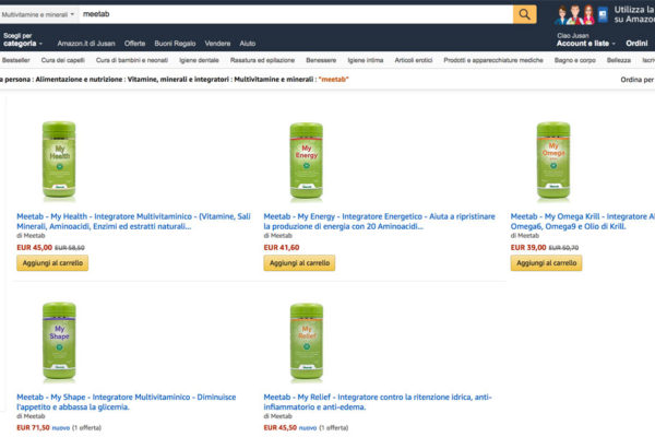 vendita integratori amazon europe