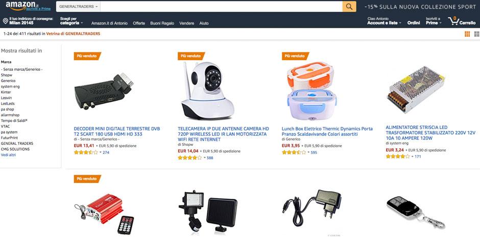 vendere piccoli elettrodomestici e videosorveglianza in amazon