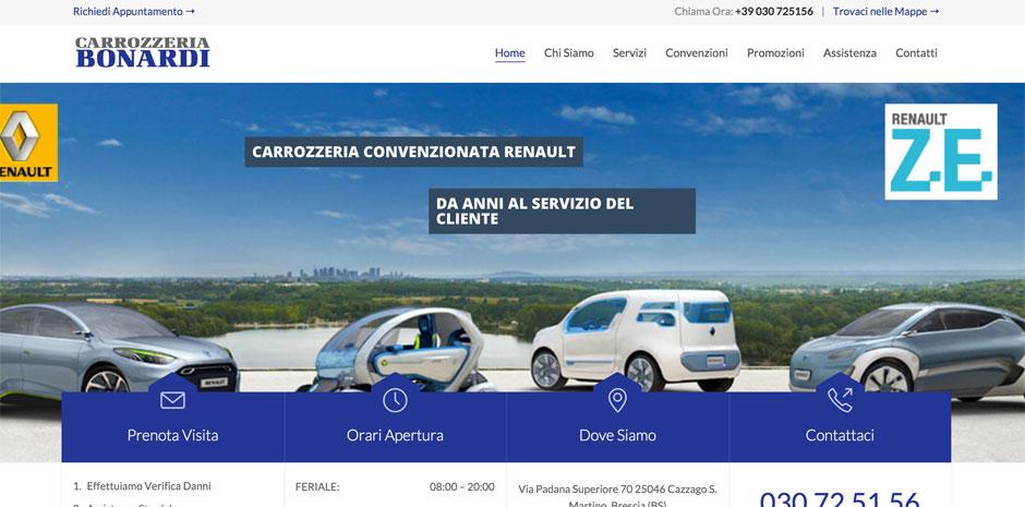 web marketing carrozzerie